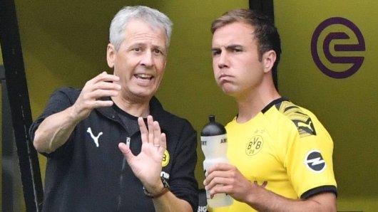 Mario Götze steht bei Borussia Dortmund derzeit hinten an.