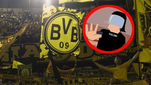 Vor dem Spiel zwischen dem 1. FC Köln und Borussia Dortmund kursierte ein heiß diskutiertes Video, in dem es um das neue Polizeigesetz geht.