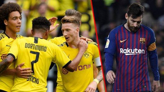 Borussia Dortmund: Lionel Messi droht Barca im Spiel auszufallen.