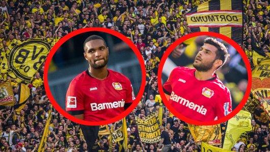 Beim Spiel zwischen Borussia Dortmund und Bayer Leverkusen waren Jonathan Tah und Kevin Volland die Hauptakteure bei zwei strittigen Szenen.