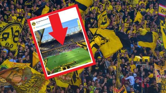 Borussia Dortmund bedankte sich nach dem Spiel gegen Leverkusen bei seinen Fans.