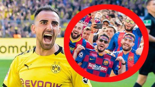 Bei Borussia Dortmund trifft Paco Alcacer wie am Fließband, bei Barca hatte er hingegen einen schweren Stand bei den Fans.