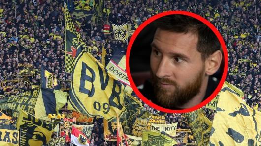 Fans von Borussia Dortmund sind irritiert: Ist Lionel Messi am Dienstag nun doch dabei?