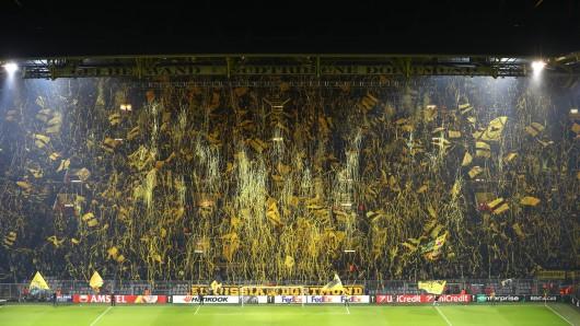 Vor dem Spiel zwischen Borussia Dortmund und dem FC Barcelona gab es eine Konfetti-Choreo der BVB-Fans. (Archivbild)