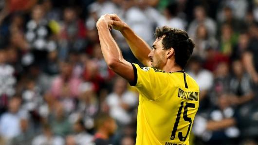 Mats Hummels musste beim Spiel Eintracht Frankfurt gegen Borussia Dortmund verletzt zum Platz.