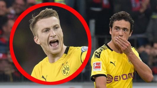 Nach dem 2:2 von Borussia Dortmund beim SC Freiburg fanden Marco Reus und Thomas Delaney klare Worte.