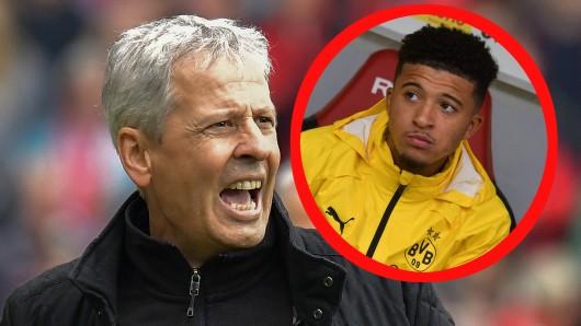 Lucien Favre gönnte Jadon Sancho beim 2:2 von Borussia Dortmund beim SC Freiburg eine Ruhepause.