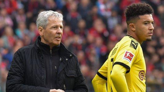Lucien Favre hat Jadon Sancho bei Borussia Dortmund für das Spiel gegen Borussia Mönchengladbach nicht nominiert.