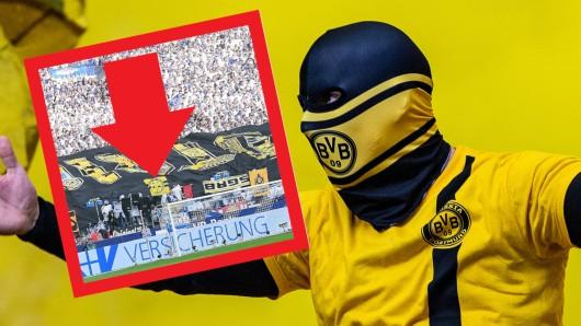 Beim Derby zwischen dem FC Schalke und Borussia Dortmund präsentierten beide Ultra-Lager eine Menge gestohlenes Fan-Material.