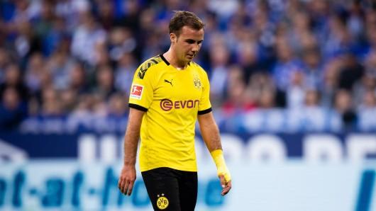 Borussia Dortmund: Mario Götze spielte im Derby lange mit Verband, wurde anschließend ausgewechselt.