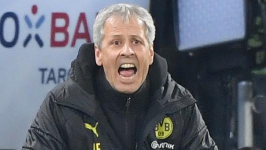 Lucien Favre erlebte am Mittwochabend eine packende Pokalpartie zwischen Borussia Dortmund und Borussia Mönchengladbach.