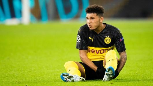 Borussia Dortmunds Jadon Sancho erlitt gegen Inter Mailand eine Oberschenkel-Zerrung.