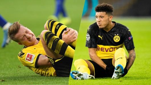 Borussia Dortmund bangt vor dem Bayern-Kracher um Marco Reus (l.) und Jadon Sancho.