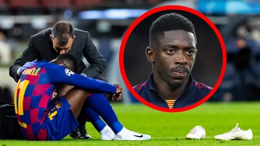 Ousamane Dembele hat wieder eine lange Zwangspause vor sich.