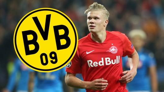 Erling Haaland von RB Salzburg wird derzeit mit Borussia Dortmund in Verbindung gebracht.