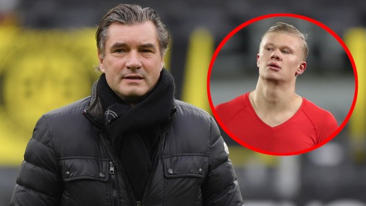 Michael Zorc, Sportdirektor bei Borussia Dortmund, wird auf Erling Haaland angesprochen deutlich.