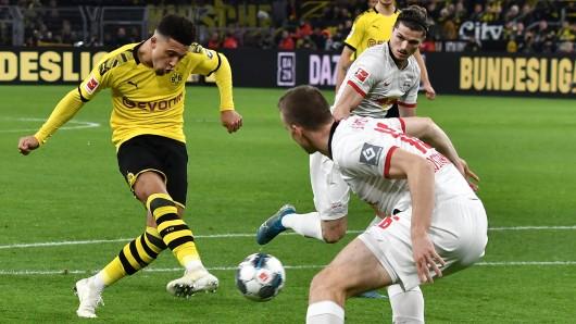 Borussia Dortmund - RB Leipzig im Live-Ticker: Sancho macht in einem irren Spiel das 3:2.