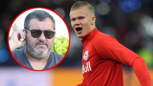 Auf der Jagd nach Erling Haaland muss sich Borussia Dortmund auch mit Star-Berater Mino Raiola beschäftigen.