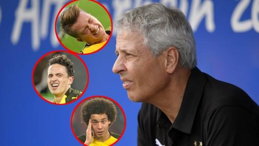Lucien Favre, Trainer von Borussia Dortmund, muss ohne den ein oder anderen Star in die Vorbereitung starten.