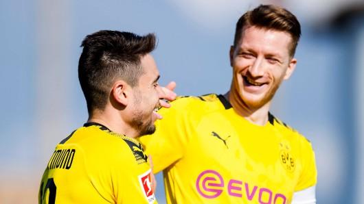 Borussia Dortmund besiegte Feyenoord Rotterdam am Samstagmittag. Raphael Guerreiro traf doppelt.