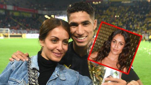 Achraf Hakimi (r.), Star von Borussia Dortmund, erwartet mit Freundin Hiba Abouk ein Baby.