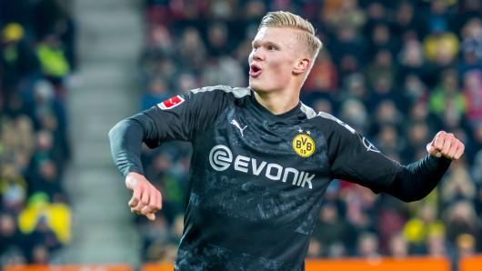 Drei Tore beim Debüt: Erling Haaland ist bei Borussia Dortmund voll eingeschlagen.