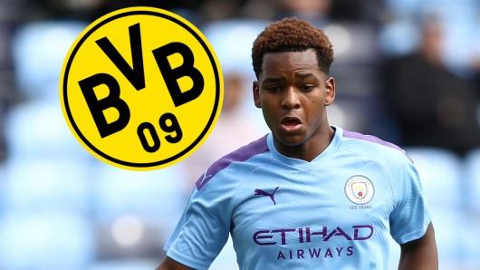 ManCity-Juwel Jayden Braaf steht auf der Liste von Borussia Dortmund.