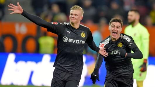 Erling Haaland (l.) und Giovanni Reyna sind die Shooting-Stars bei Borussia Dortmund.