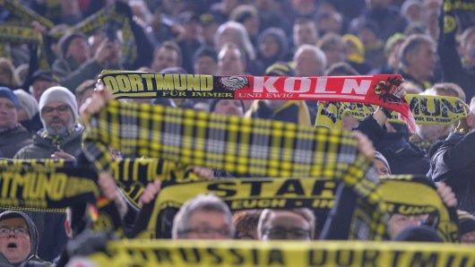 Eine Choreo der Kölner Fans beim Auswärtsspiel bei Borussia Dortmund sorgt für Ärger.