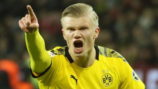 Erling Haaland und Borussia Dortmund kassierten am Samstagabend bei Bayer Leverkusen eine bittere Pleite.