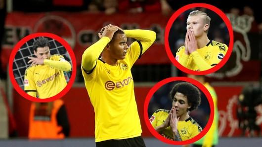 Die Spieler von Borussia Dortmund konnten es nicht fassen: In Leverkusen kassierte der BVB vier Gegentore und eine bittere Niederlage.