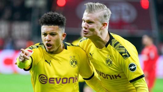 Borussia Dortmunds Sturm-Juwelen Jadon Sancho und Erling Haaland.