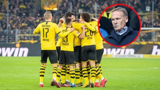 Hans-Joachim Watzke ermahnt die Mannschaft trotz des 4:0-Kantersiegs gegen Frankfurt.