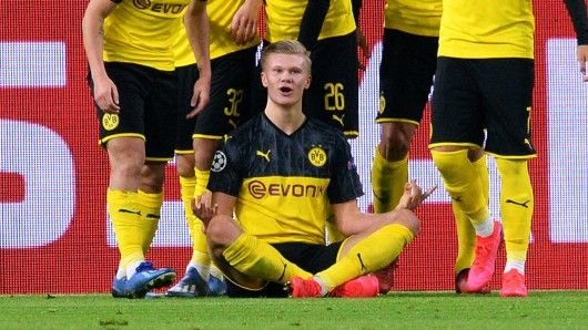 Borussia Dortmund besiegt Paris Saint-Germain dank eines Haaland-Doppelpacks.