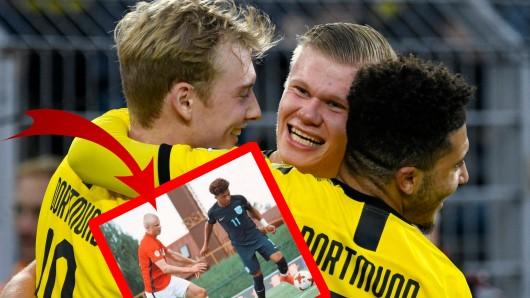 Sancho und Haaland: Das Traumpaar von Borussia Dortmund spielte bereits 2017 gegeneinander.