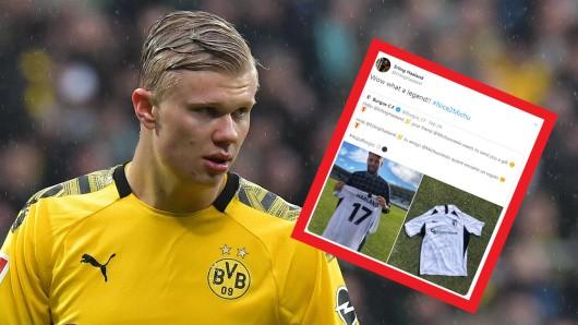 Erling Haaland von Borussia Dortmund veröffentlichte einen Tweet, dessen Hintergründe vielen BVB-Fans nicht bekannt waren.