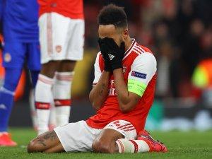 Einst beim BVB, jetzt bei Arsenal: Pierre-Emerick Aubameyang vergab in der Europa League die Mega-Chance für die Gunners.