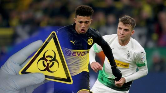 Das Spiel zwischen Borussia Dortmund und Borussia Mönchengladbach steht wegen des Coronavirus auf der Kippe.