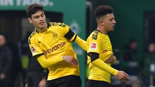 Zwei Youngsters bei Borussia Dortmund: Giovanni Reyna (l.) und Jadon Sancho.