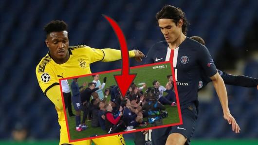 Nach dem Spiel zwischen PSG und BVB kam es zu kuriosen Szenen.