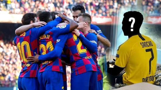 Welcher Barca-Star posiert da im Trikot von Borussia Dortmund?
