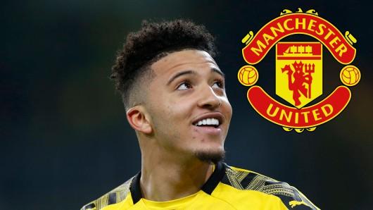 Borussia Dortmunds Superstar Jadon Sancho wird noch immer von Manchester United gejagt.