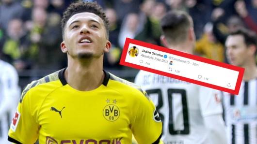Hat die Haare schön: Jadon Sancho von Borussia Dortmund.