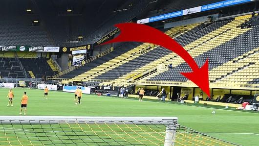 Die Bank von Borussia Dortmund gegen Hertha BSC sorgte für Aufsehen.