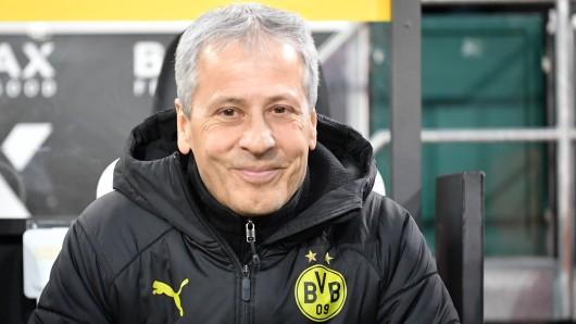 Lucien Favre ist mit dem Verlauf der Bundesliga-Saison bei Borussia Dortmund zufrieden.
