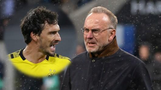 Bei Borussia Dortmund kriegt Mats Hummels eine Breitseite von Bayern-Boss Karl-Heinz Rummenigge.