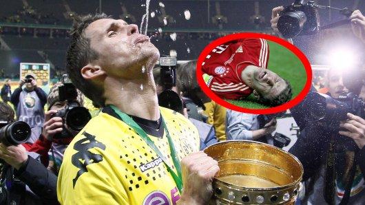 Borussia Dortmund: Sebastian Kehl feiert 2012 nach dem DFB-Pokal-Sieg. Bayern München und Thomas Müller hatten damals mit 2:5 das Nachsehen.