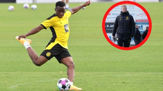 BVB-Trainer Mike Tullberg ist froh, einen Spieler wie Youssoufa Moukoko trainieren zu dürfen.