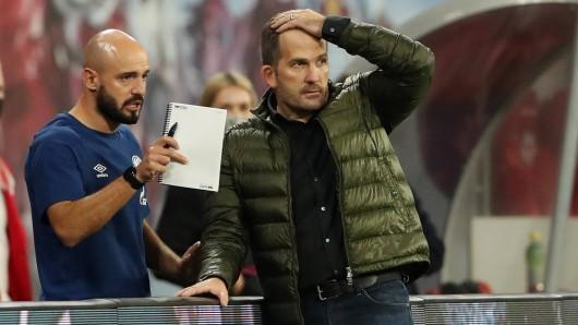 Schalke-Trainer Manuel Baum fällt eine alte Aussage auf die Füße.