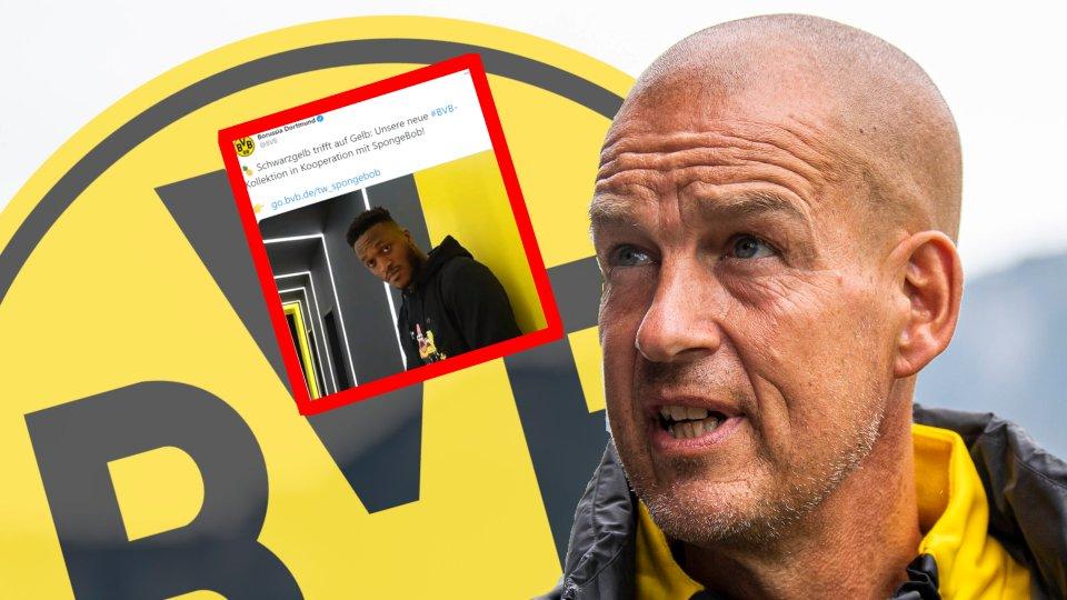 Borussia Dortmund hat unter Marketing-Geschäftsführer Carsten Cramer eine Spongebob-Kooperation verkündet.